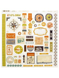 Travel Words & Icons Sticker Sheet (Available in a pack of 24)
