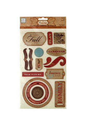 Fall Self-Adhesive Chipboard Embellishments (Available in a pack of 24)