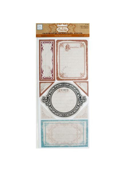 Timeless Self-Adhesive Cardstock Journaling Pieces (Available in a pack of 24)