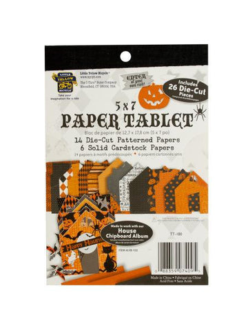 Happy Haunting Halloween Die-Cut Cardstock Paper Tablet (Available in a pack of 24)