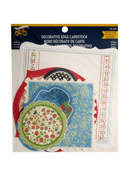 Americana Decorative Edge Cardstock (Available in a pack of 24)