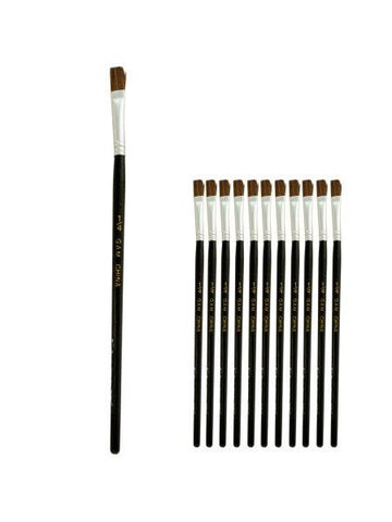 1-4 Inch Single Stroke Camel Hair Artist Brush Set (Available in a pack of 24) - Blobimports.com