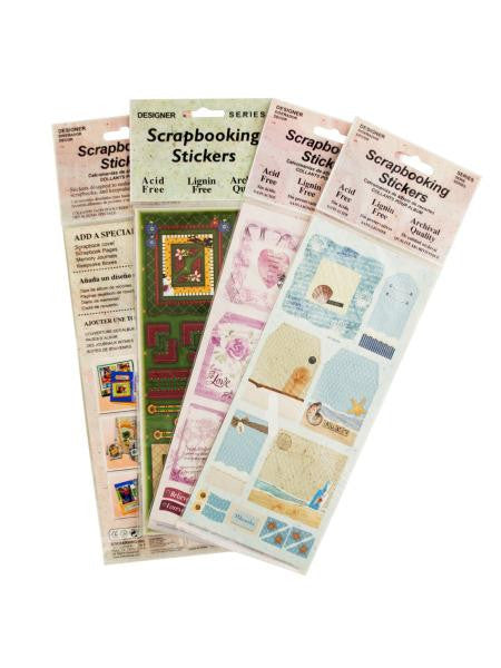 Scrapbooking Stickers Assortment (Available in a pack of 24)