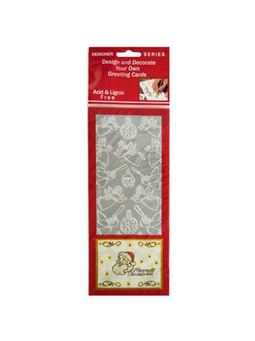 Angels and Ornaments Silver Foil Stickers (Available in a pack of 24)