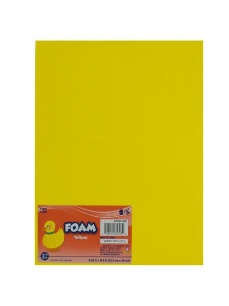 Yellow Craft Foam Sheet (Available in a pack of 18)