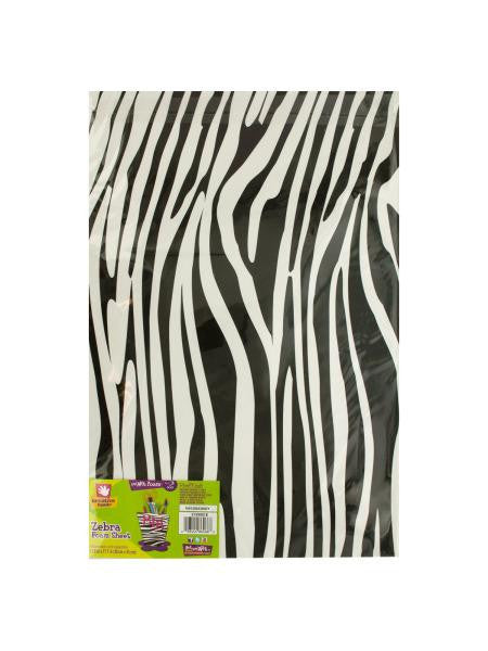 Zebra Print Foam Sheet (Available in a pack of 18)