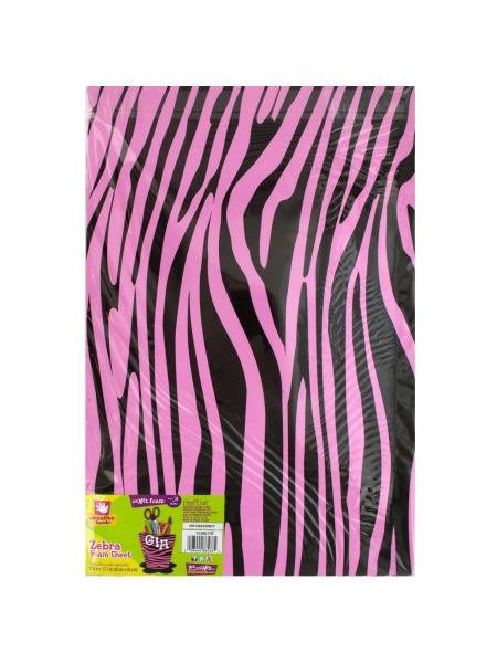 Pink Zebra Print Foam Sheet (Available in a pack of 18)