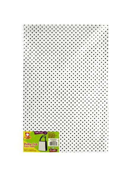 Polka Dot Print Foam Sheet (Available in a pack of 18)