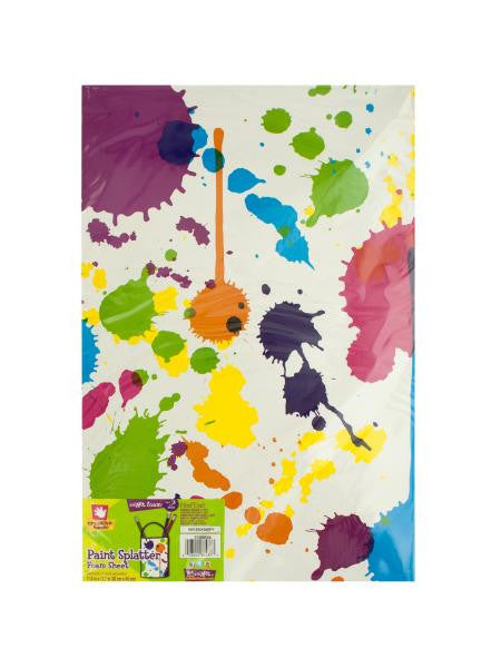 Paint Splatter Foam Sheet (Available in a pack of 18)