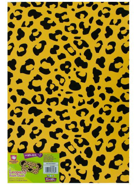 Leopard Print Foam Sheet (Available in a pack of 36)