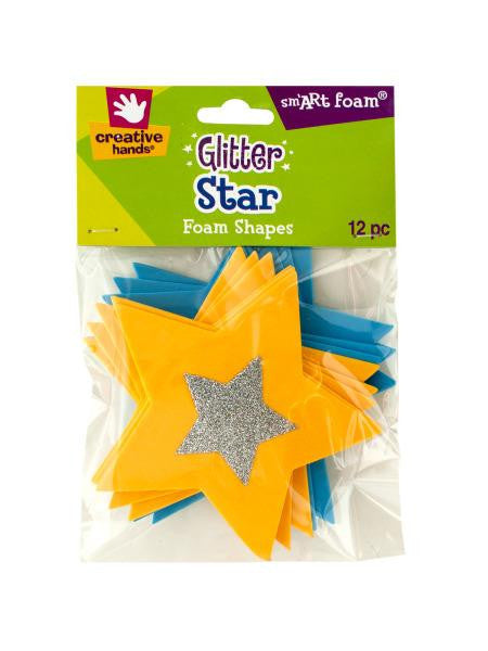 Glitter Star Foam Shapes (Available in a pack of 18)