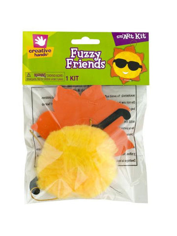 Foam Sun Fuzzy Friends Craft Kit (Available in a pack of 18)
