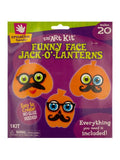 Foam Funny Face Jack-O'-Lanterns Craft Kit (Available in a pack of 24)
