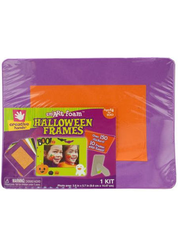 Foam Halloween Photo Frames & Stickers Kit (Available in a pack of 20)