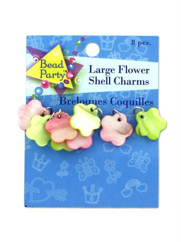Large flower shell charms (Available in a pack of 24)