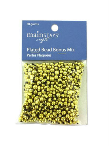 Gold colored plastic beads, 30 grams (Available in a pack of 30)