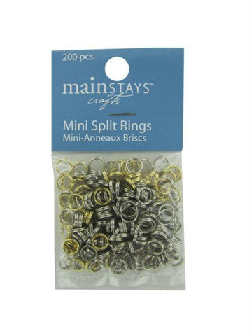 Mini split rings assortment of 200 (Available in a pack of 12)