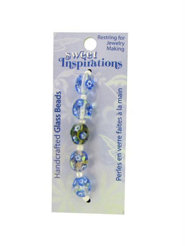 Monet's Garden glass beads (Available in a pack of 30)