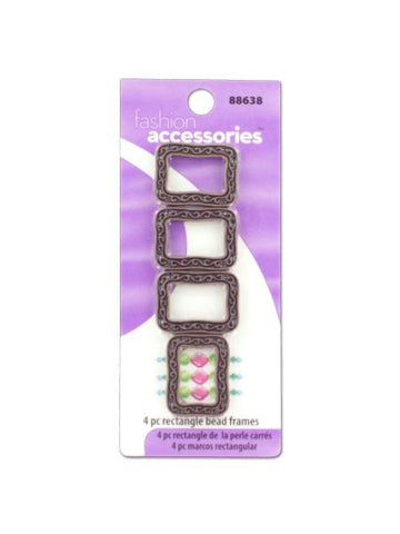 Rectangle bead frames for crafting (Available in a pack of 30)