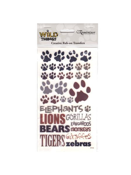 Wild Things Icon Creative Rub-on Transfers (Available in a pack of 24)