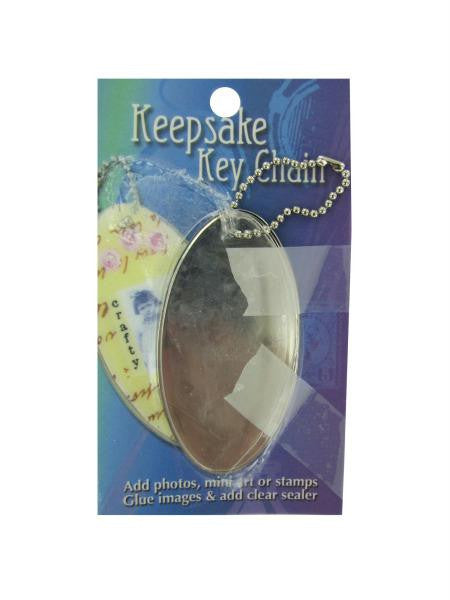 Keepsake oval key chain (Available in a pack of 30)