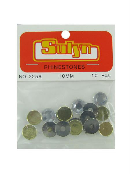 Green rhinetones, pack of 10 (Available in a pack of 24)