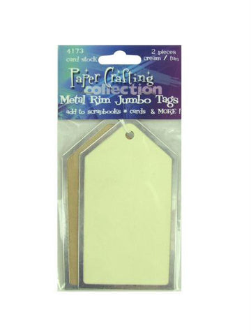 Jumbo metal-rim paper tags (Available in a pack of 30)