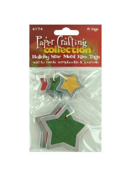 Star metal rim tags, pack of 6 (Available in a pack of 30)