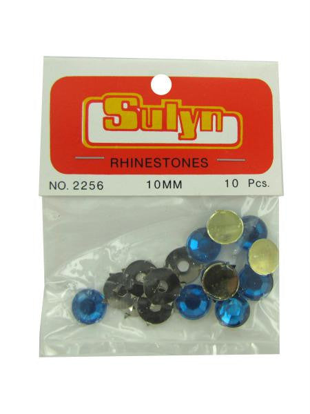 Blue rhinestones, pack of 10 (Available in a pack of 24)