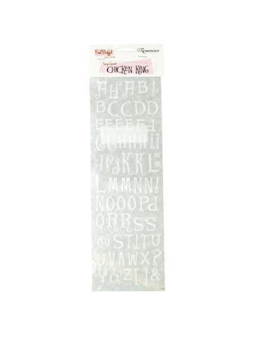 Chicken King White Creative Rub-on Transfers (Available in a pack of 24)