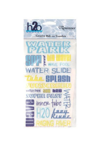 Water Park Creative Rub-on Transfers (Available in a pack of 24)