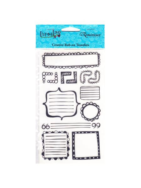 Live Out Loud Journal Creative Rub-on Transfers (Available in a pack of 30)
