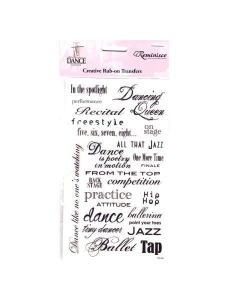 Dance Phrase Creative Rub-on Transfers (Available in a pack of 24)