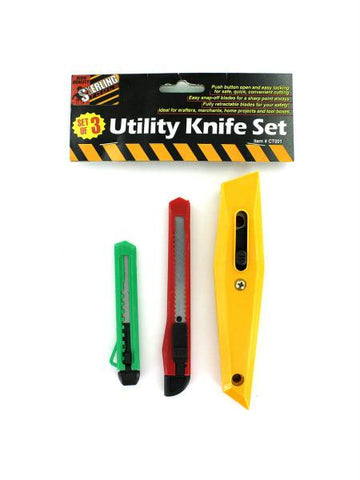Utility Knife Set (Available in a pack of 24)