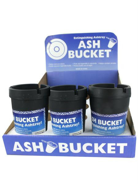 Extinguishing Ashtray Ash Bucket Counter Top Display (Available in a pack of 12)