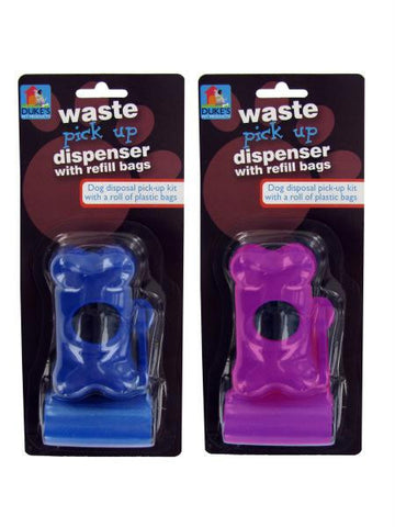 Dog Waste Bag Dispenser with Refill Bags (Available in a pack of 24)