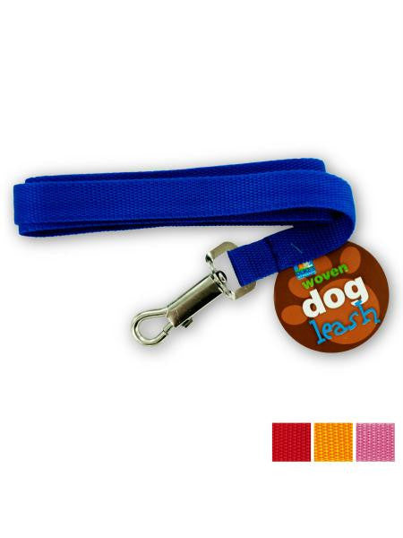 Woven Nylon Dog Leash (Available in a pack of 24)