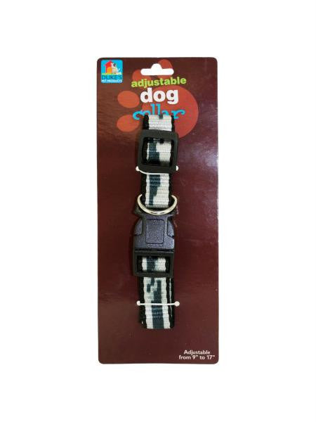 Adjustable Printed Dog Collar (Available in a pack of 24)