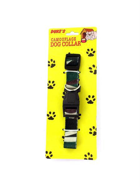 Adjustable Camouflage Dog Collar (Available in a pack of 24)