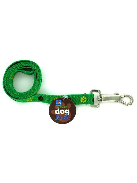 Woven Dog Leash with Paw Print Design (Available in a pack of 24)