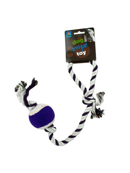 Dog Rope Tennis Ball Toy (Available in a pack of 24)
