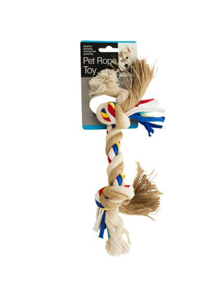 Medium Colorful Knotted Pet Rope Toy (Available in a pack of 8)