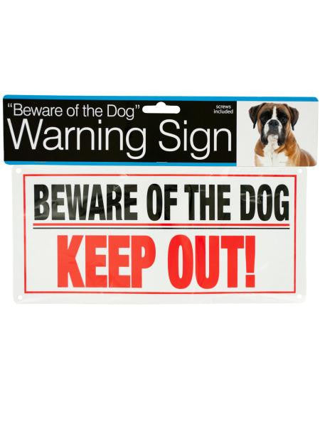Dog Warning Sign (Available in a pack of 24)
