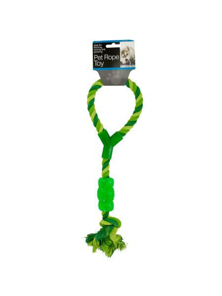 Pet Rope Toy with Handle & Chew Toy (Available in a pack of 8)