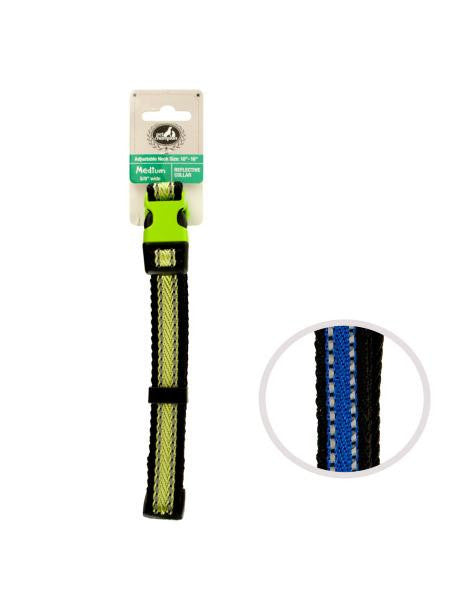 Adjustable Medium Reflective Dog Collar (Available in a pack of 24)