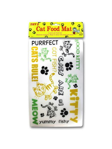 Cat Food Mat (Available in a pack of 24)