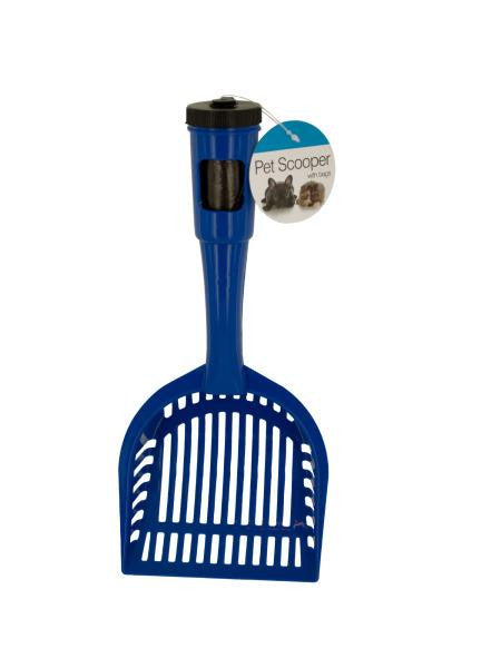 Pet Litter Scooper with Waste Bags in Handle (Available in a pack of 12)