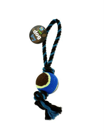 Knotted Dog Toy with Tennis Ball (Available in a pack of 24)