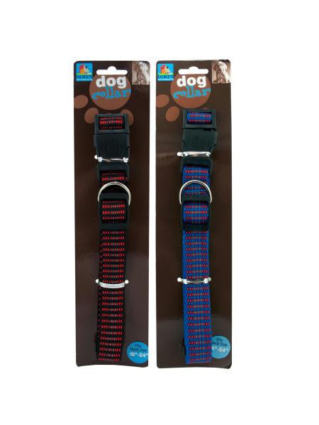 Woven Reflective Dog Collar (Available in a pack of 24)