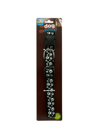 Dog Collar with Paw Print (Available in a pack of 24)